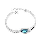 Simply Elegant Ocean Blue Women's Bracelet with Gift Box