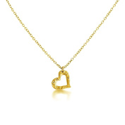 Small Open Heart Pendant Necklace