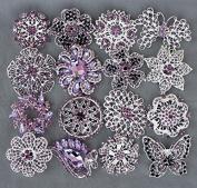 5 Amethyst Purple Rhinestone Brooch Pin Back X LARGE Crystal Wedding Bridal Brooch Bouquet Invitation Cake Decoration BR989