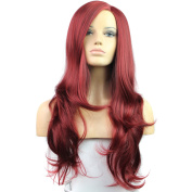 Royalvirgin Synthetic Wigs Red False Hair Long Wigs for Cosplay Wave Natural Cheap Hair Heat Resistant Wig with Bangs for Women Sale