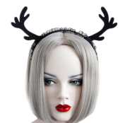 Da.Wa Fashion Lovely Hair Hoop Headband Black Christmas Lace Antlers