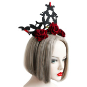 Da.Wa Retro Gothic Style Exaggerated Rose Crown Hair Hoop Cosplay Show Costume Accessories