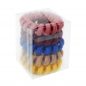 Rainbow Brush in Elastic Ruffle, Multicoloured - Set of 5 items