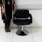 Quilted Hair Styling Chair - Black