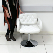 Quilted Hair Styling Chair - White