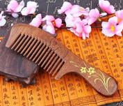 Sunmoch Coffee Sandalwood Combs Solid Wood Ccomb Green Ebony Gift Can Be Equipped with Gift Box Ancient Bronzing