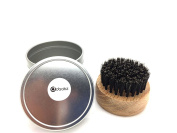 Beard Brush Round Boar Bristles for Hair and Beards Perfect For Beard Balms and Oils, Natural, Soft Boar Hair   , Comes with Premium Aluminium Metallic Gift Box