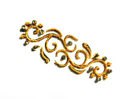 Teeliya » 1 x Tattoo Sticker ✮ Gold ✮ Re-usable ✮ Indian Art ✮ Temporary Tattoo ✮ Wedding and Party Accessoires ✮ Fashion Jewellery