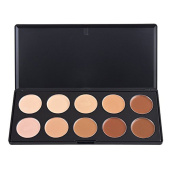TININNA Professional Contour Face Speckle Cream Makeup Concealer Powder Palette Highlight Face Contour Camouflage Palette Cream Foundation 10 Colours