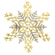 Two-toned Christmas Snowflake Pin Brooch And Pendant