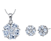 Jewellery Sets, Layla Austrian Crystal Earrings Pendant Necklace Sets for Bridal Wedding