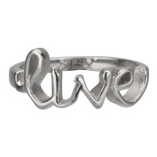"""316L Stainless Steel """"Live"""" Ring With A Polished Finish - Size"""