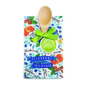 DEMDACO Blueberry Smoothie Tea Towel and Spoon Set, Multicolor