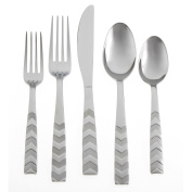 Cambridge Silversmiths Caprian Sand 20-Piece Flatware Set, Stainless Steel