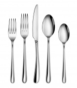 Artaste 56525 Rain II Forged 18/10 Stainless Steel Flatware 20 Piece Set, Service for 4, Silver
