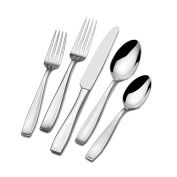Mikasa Natasha 65-Piece Stainless Steel Flatware Set with Serveware, Service for 12