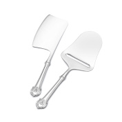 Wallace 2 Piece Napoleon Bee Stainless Steel Cheese Set, Silver
