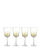 Fitz and Floyd Lustre Red Wine Goblets (Set of 4), Gold