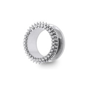Spikey Screw Fit Ear Flash Tunnel Plug In A Chic Spikey Design. The Ear Flash Tunnel has been made from High Quality 316L Surgical Steel for a comfortable fit