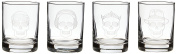 Rolf Glass Etched Numbskulls Double Old Fashioned Glass (Set of 4), 410ml, Clear
