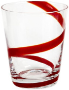 Impulse Crazy Rocks Hand-Crafted Glass, Red, Set of 6