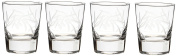 Rolf Glass Etched Olive Branch Double Old Fashioned Glass (Set of 4), 380ml, Clear
