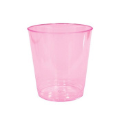 Party Dimensions Neon 24 Count Plastic Tumblers, 30ml, Pink