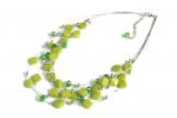 Azzaria Spring Green Glass / Bead Statement Necklace...Length