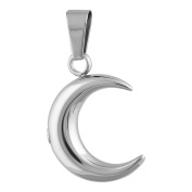 Perfect Memorials Classic Crescent Moon Stainless Steel Cremation Jewellery
