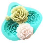 JUN 4 Roses Silicone Cake Mould Baking Tools Kitchen Accessories Fondant Chocolate Mould Sugarcraft Decoration Tools