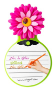 Vigar Flower Power - Notepad with suction cup, Multi-Colour
