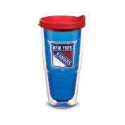 "Tervis 2762150cm NHL New York Rangers"" Tumbler with Red Lid, Emblem, 710ml, Sapphire"