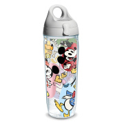 Tervis Disney Classic Character Wrap Clear Inner Water Bottle with Grey Lid, 710ml