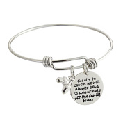 Cousin to cousin will always be a couple of nuts off family tree Family Cousin Expandable Bangle Bracelet