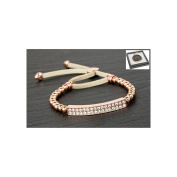 Equilibrium Rose Gold Plated Diamante Bling Friendship Bracelet Clear