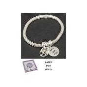 Equilibrium Silver Plated Mesh Tree of Life Bracelet Love You Mum