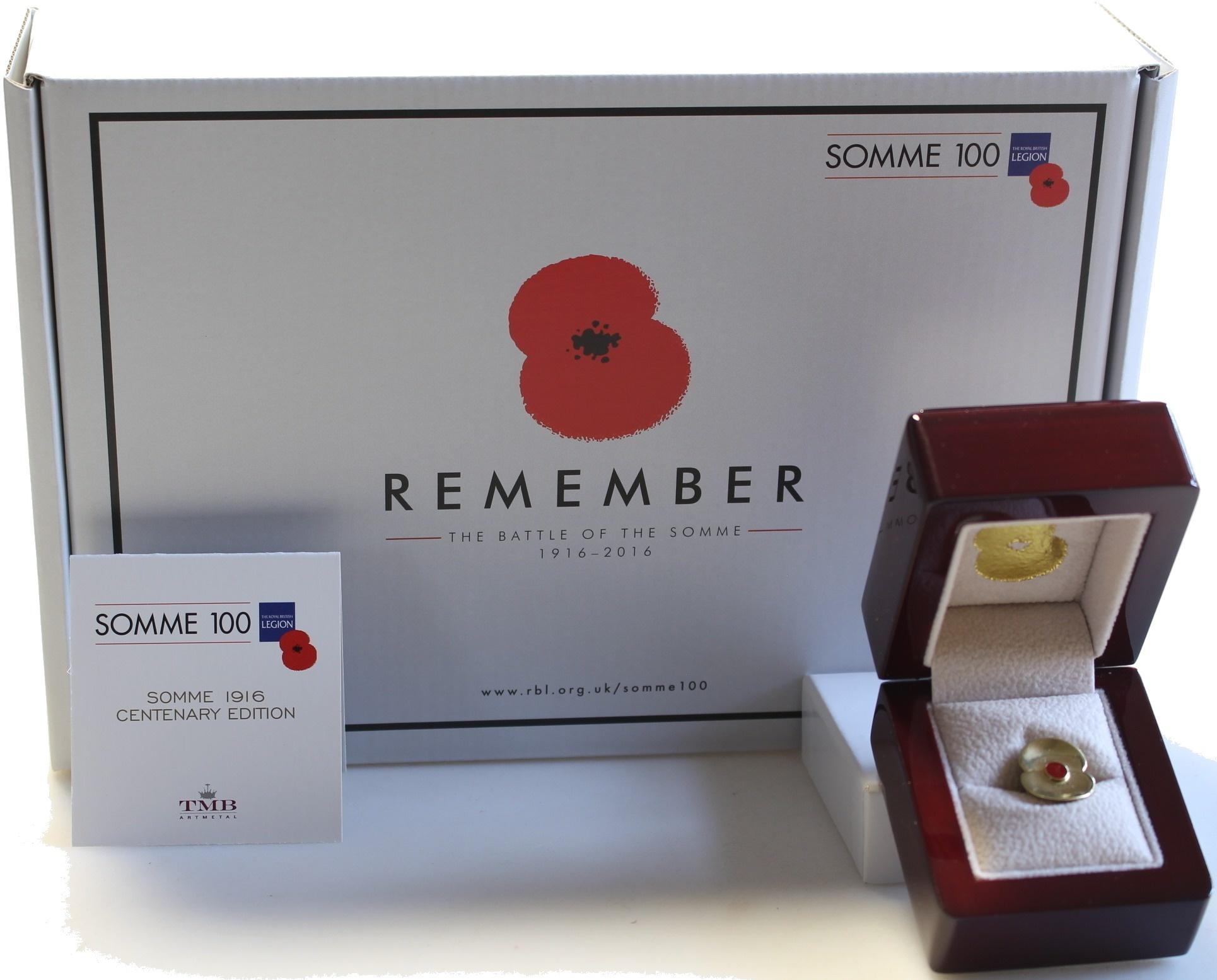 The Royal British Legion Somme 1916 Poppy Lapel Pin