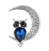 Fengteng Owl Cartoon Fashion Diamond Brooch Moon Brooch Occupation Suit Accessories