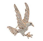 Gudeke Golden Eagle Jewellery Rhinestone Alloy Brooch and Pin Corsage
