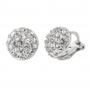 Yan & Lei .  18k Gold Plated Shinning Cubic Zirconia Clip on Earrings for Women