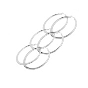 Yan & Lei .  Teardrop Hoop Earrings for Women Hypoallergenic 3 Pairs a Set 45MM