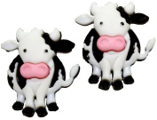 Bluebubble COWS GO MOO Daisy Cow Stud Earrings With Gift Box
