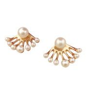 TININNA Cute Faux Pearl Earring Studs for Women Ladies Girls