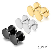 Oidea 6pcs Assorted Colour Stainless Steel Screw Earring Studs for Men Women,Hypoallergenic