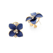 Yan & Lei .  1Pair Flower Earring Fashion Women Ladies Rhinestone Ear Stud Earring