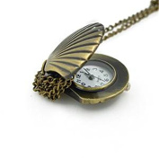 Minifamily® Vintage Bronze Cell Shape Pendant Necklace Watch Come With Free Unique Ring and Rubber Wrist Band