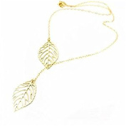 Minifamily® Golden Leaves Tassel Necklaces Come With Free Unique Ring and Rubber Wrist Band