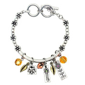 Garden Of Love Bracelet, 'Success' - This Burnished Silver Charm Bracelet (Medium) With Reversible Inspirational Words Is The Perfect Gift For Any Occasion