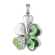 Perfect Memorials Clover Stainless Steel Cremation Jewellery