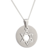 High Polished Stainless Steel Star of David Necklace, Star of David Pendant